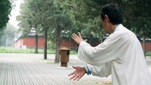 An Adult Man Doing Meditation Exercise