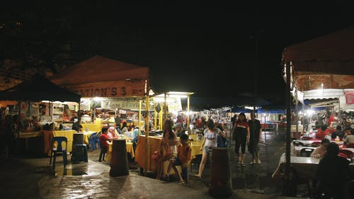 A Food Festival At Night