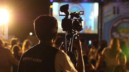 Kameramann Filmt Eine Live Show