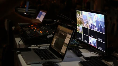 People Works On A Broadcast Of An Event