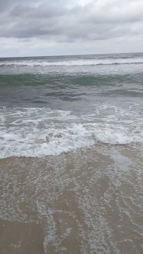 Meereswellen, Die Die Küste Abstürzen