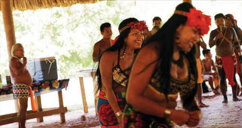 Women Of A Tribe Dancing On A Traditional Ritual