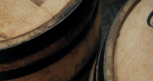 A Liquor Company Aging Whisky In A Wooden Barrel