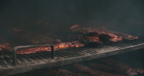 Cooling Pork Spareribs In An Oven Grill