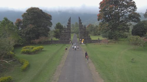 Drone Footage Of A Garden Park