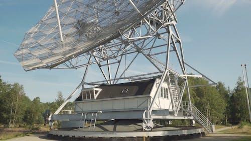 A Radio Telescope In A Research Center Astronomy