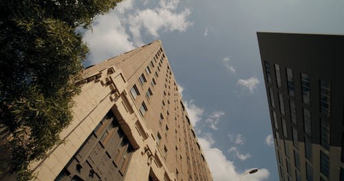 Low Angle Footage Of A Building Perspective