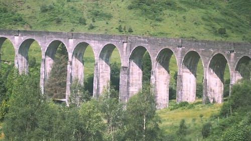 A Bridge With Arched Concrete Foundation