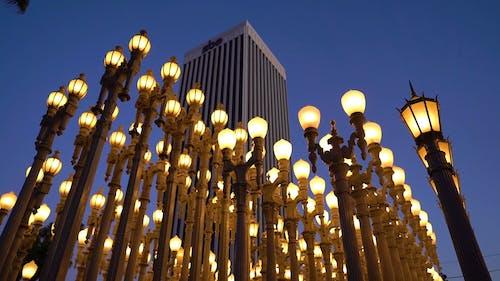 Rows Of Lamppost As Landmark In Los Angeles