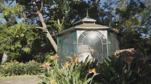 A Birdcage Built In A Public Park