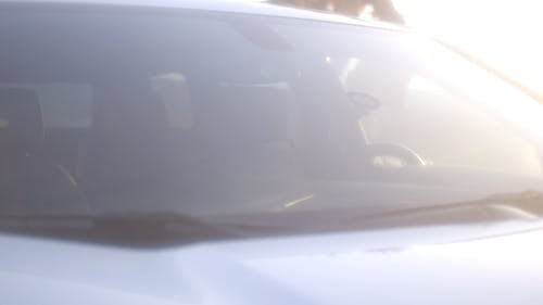 Close-Up View Of Windshield Of A Car