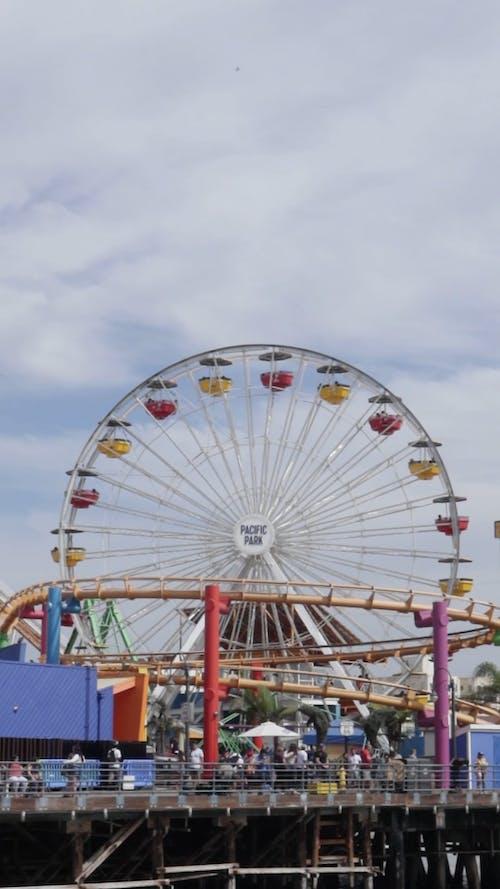 A Ferris Wheel Ride At An Amusement Park