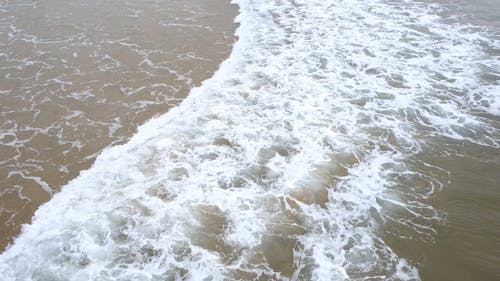 Series Of Waves Kissing The Sea Shoreline