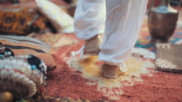 Walking On A Carpet With Sandals On