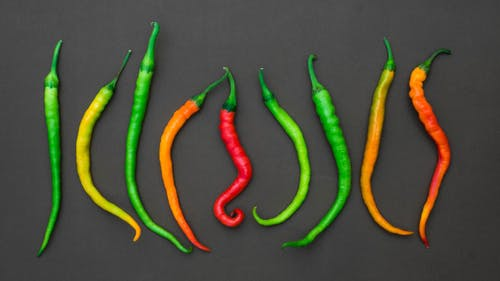 Stop Motion Footage Of Colorful Chili Peppers