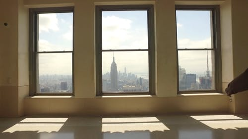 View Of The Cityscape From Windows Of A High-rise Building