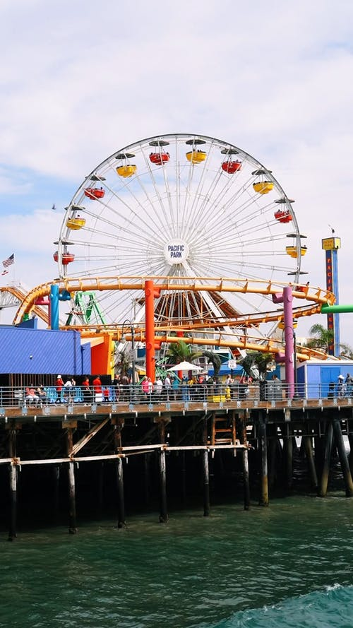 A Fairground Built Above A Body Of Water