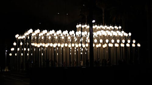 Video Of Lamp Posts At Night