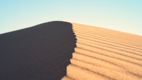 A Sand Dune Formed In The Desert