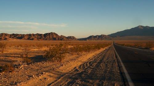 Cracks On Asphalt Road Built For Crossing The Desert