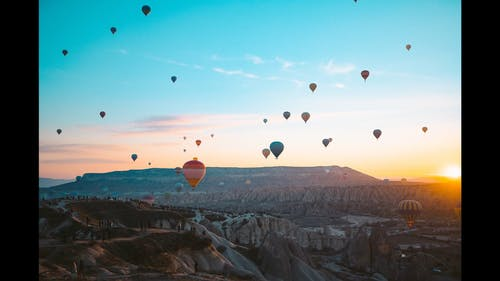 Hot Air Balloons Festival In Turkey For Tourist Attraction