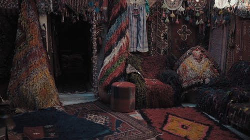 carpets In Different Designs And Sizes On Display