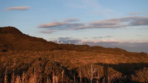 Wind Turbines On The Side Of A Mountain