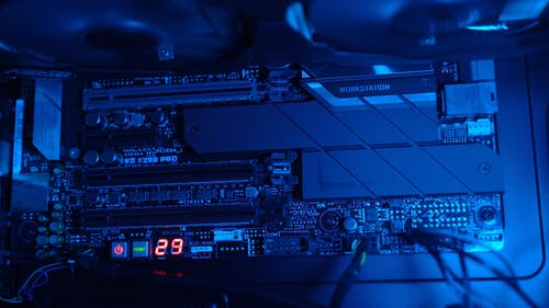 The Main Board Of A Computer
