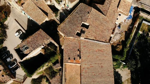 Drone Footage Of Traditional Houses In An Old Village