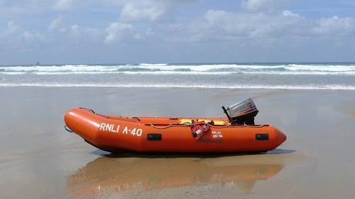 A Life Boat On Seashore