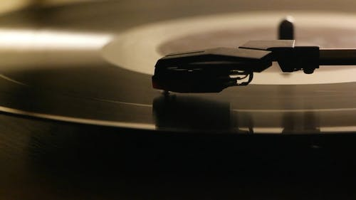 A Turntable Playing A Vinyl Music Recording