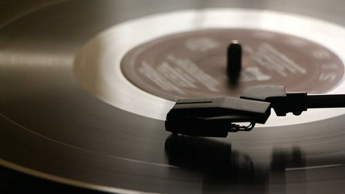 A Turntable Playing Music From A Vinyl Record