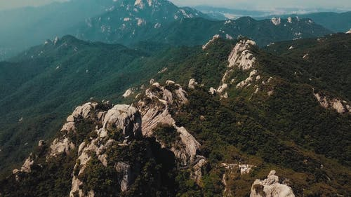 Aerial Footage Of The Mountains Peak