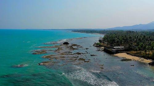 Drone Footage Of Rocks Formation In A Rocky Coastline Of The Sea