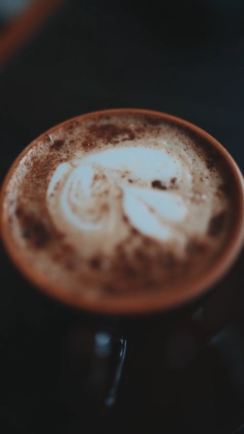 Artwork On Top Of A Cup Of Coffee