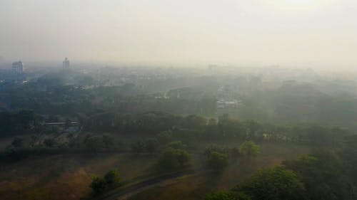 A Smog Covering The City Line Air Space