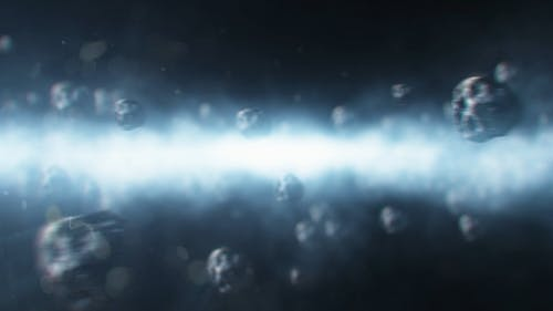 Meteors Scattered In The Outer Space