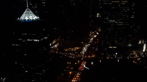 Heavy Traffic In The City Streets At Night