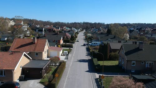 Drone Footage Of A Residential Area