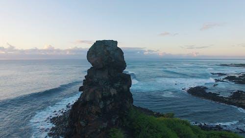 岩石形成的无人机画面