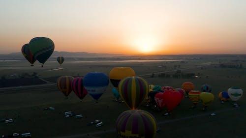 Aerial View Of Hot Air Balloon Festival