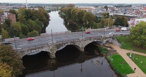 A Concrete Bridge Built Across The River