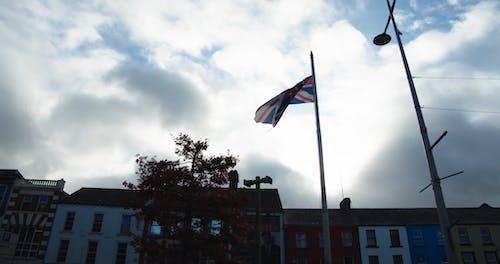 英国的国旗被风扬起