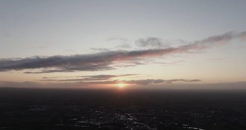 落日景色的景色