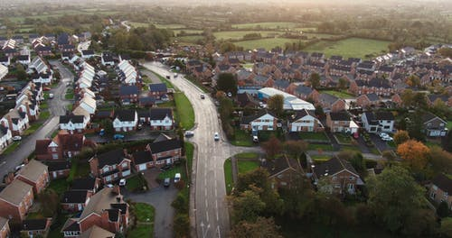 Aerial Shot Of A Residential Community