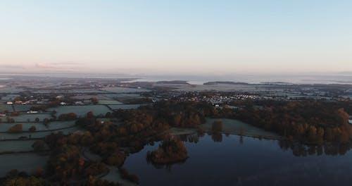 Drone Footage Of Farmland
