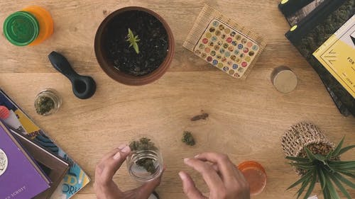 Stop Motion Video of Person Rolling Marijuana Joint
