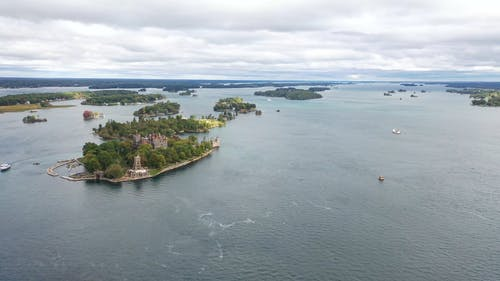 Drone Footage of Boldt Castle