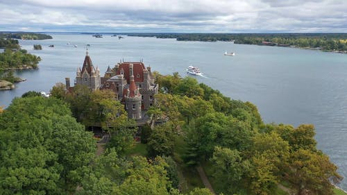 The Bondt Castle In Thousand Island Of Saint Lawrence River