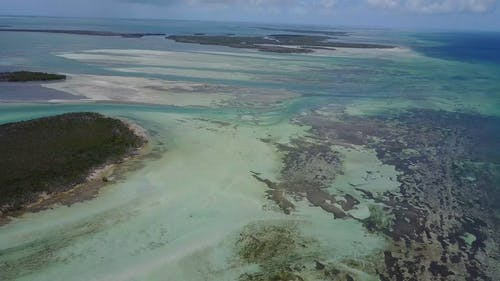 Drone Footage Of Islands And Reefs On The Shallow Part Of The Sea